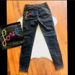 Handmade EQUALITY 🌈 LOVE High Rise Skinny Jeans